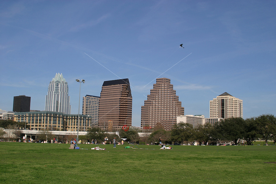 Zilker Park and Auditorium Shores and the Zilker Loop Trail offer large open grass areas to play Frisbee or fly a kite, and numerous trails to run with your dog or walk, run or jog.