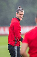 Gareth Bale during the Wales open Training session ahead of the opening FIFA World Cup 2018 Qualification match against Moldova at The Vale Resort, Cardiff, Wales on 31 August 2016. Photo by Mark  Hawkins / PRiME Media Images.