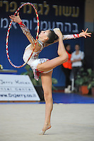 Anastasia Kisse of Bulgaria performs with hoop at 2011 Holon Grand Prix, Israel on March 4, 2011.  (Photo by Tom Theobald)