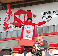 Lincoln City fans enjoy the pre-match atmosphere<br /> <br /> Photographer Chris Vaughan/CameraSport<br /> <br /> The EFL Sky Bet League Two Play Off Second Leg - Exeter City v Lincoln City - Thursday 17th May 2018 - St James Park - Exeter<br /> <br /> World Copyright &copy; 2018 CameraSport. All rights reserved. 43 Linden Ave. Countesthorpe. Leicester. England. LE8 5PG - Tel: +44 (0) 116 277 4147 - admin@camerasport.com - www.camerasport.com