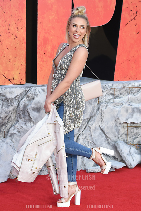 Gabby Allen arriving for the &quot;Rampage&quot; premiere at the Cineworld Empire Leicester Square, London, UK. <br /> 11 April  2018<br /> Picture: Steve Vas/Featureflash/SilverHub 0208 004 5359 sales@silverhubmedia.com