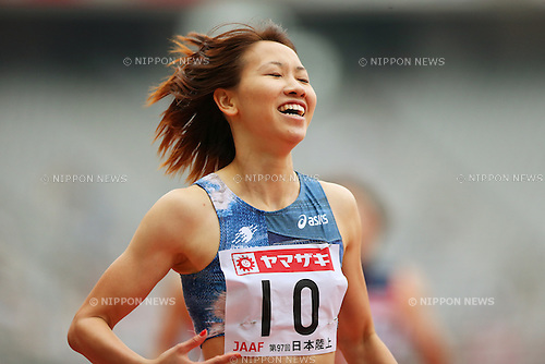 Chisato Fukushima (JPN), <br /> June 9, 2013 - Athletics : <br /> The 97th Japan Athletics National Championships, Women's 200m Final <br /> at Ajinomoto Stadium, Tokyo, Japan. <br /> (Photo by Daiju Kitamura/AFLO SPORT)
