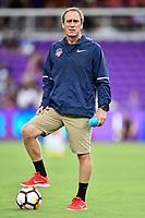 Orlando, FL - Saturday July 07, 2018: Jim Gabarra prior to a regular season National Women's Soccer League (NWSL) match between the Orlando Pride and the Washington Spirit at Orlando City Stadium.