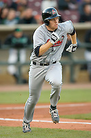 Matt Wallach #22 of the Great Lakes Loons hustles down the first base line versus the Dayton Dragons at Fifth Third Field April 22, 2009 in Dayton, Ohio. (Photo by Brian Westerholt / Four Seam Images)