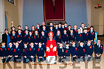 The pupils from Moyvane & Knockanure national schools who were confirmed in Moyvane church  by Bishop Ray Browne on Friday last with their teachers M/s Madden & M/s Donegan & Fr. Kevin McNamara, PP Moyvane.