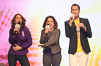MIAMI, FL - DECEMBER 14: Lucero, Gloria Estefan and Jesus Navarro of Reik at Teleton USA at Univision Studios in Miami, Florida. December 14, 2012. Credit: Majo Grossi/MediaPunch Inc. /NortePhoto