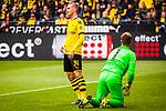 11.05.2019, Signal Iduna Park, Dortmund, GER, 1.FBL, Borussia Dortmund vs Fortuna Düsseldorf, DFL REGULATIONS PROHIBIT ANY USE OF PHOTOGRAPHS AS IMAGE SEQUENCES AND/OR QUASI-VIDEO<br /> <br /> im Bild | picture shows:<br /> Jacob Bruun Larsen (Borussia Dortmund #34) enttäuscht nach Torchance, <br /> <br /> Foto © nordphoto / Rauch