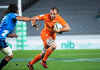 Leonardo Senatore in action during the Super Rugby match between the Blues and Jaguares at Eden Park in Auckland, New Zealand on Friday, 28 April 2018. Photo: Dave Lintott / lintottphoto.co.nz