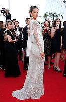 Alessandra Ambrosio attends 'Deux Jours, Une Nuit' 1ere - 67th Cannes Film Festival - France