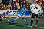UTRECHT -  Bjorn Kellerman (Kampong)   tijdens  de hoofdklasse hockeywedstrijd mannen, Kampong-Amsterdam (4-3).  COPYRIGHT KOEN SUYK