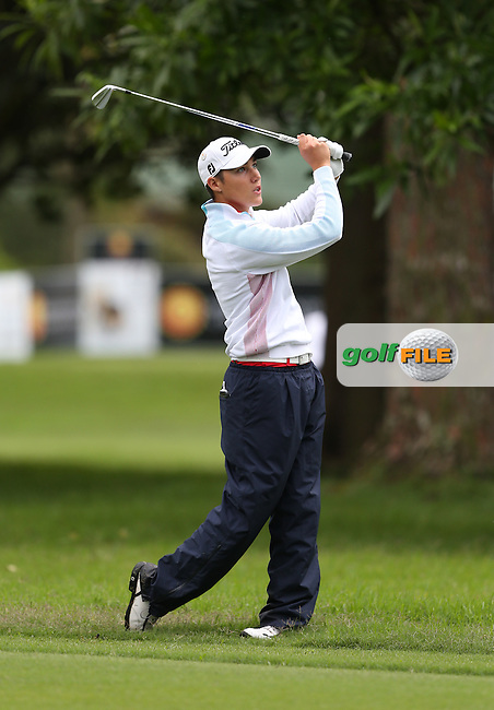 Amateur golfer Dominic Foos (GER) during Round One of The Nelson Mandela Championship 2013 presented by ISPS Handa, at the Mount Edgecombe Country Club, KwaZulu-Natal, South Africa. Picture:  David Lloyd / www.golffile.ie