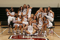 STANFORD, CA - OCTOBER 9:  (Not in order): Jillian Harmon, Nneka Ogwumike, Morgan Clyburn, Kayla Pedersen, Sarah Boothe, Jayne Appel, Ashley Cimino, Michelle Harrison, and Jeanette Pohlen, Rosalyn Gold-Onwude, Grace Mashore, Hannah Donaghe, JJ Hones, Lindy La Rocque, and Melanie Murphy of the Stanford Cardinal during picture day on October 9, 2008 at Maples Pavilion in Stanford, California.