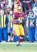 Washington Redskins running back Alfred Morris (46) carries for 48 yards for the final play of the first half against the Buffalo Bills at FedEx Field in Landover, Maryland on Sunday, December 20, 2015.  The Redskins won the game 35-25.<br /> Credit: Ron Sachs / CNP