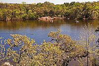 Excellent fishing brings visitors to Inks Lake State Park all year long