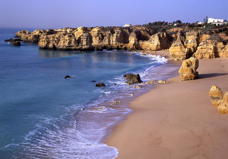 Europe, PRT, Portugal, Algarve, Albufeira, Landscape, Typical Coast, Beach in the Morning....[ For each utilisation of my images my General Terms and Conditions are mandatory. Usage only against use message and proof. Download of my General Terms and Conditions under http://www.image-box.com or ask for sending. A clearance before usage is necessary...Material is subject to royalties. Each utilisation of my images is subject to a fee in accordance to the present valid MFM-List...Contact | archive@image-box.com | www.image-box.com ]