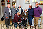 Enjoying a get together in the Rose Hotel on Thursday night. Kneeling Dermot Weeshie Lynch with Matt O'Connor. Standing l to r: Jim Enright, Geraldine Dee, Tommy Moynihan, Tom Keane and Pat Flanagan