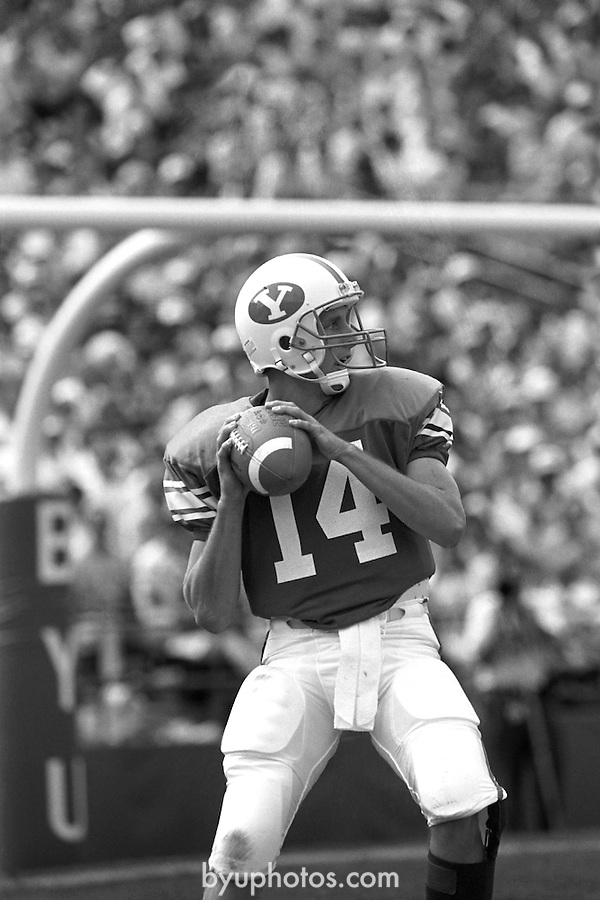 Ty Detmer1304a11<br /> <br /> 14 Ty Detmer. BYU vs Washington State.<br /> <br /> September  15, 1990<br /> <br /> Photo by Mark Philbrick/BYU<br /> <br /> &copy; BYU PHOTO 2009<br /> All Rights Reserved<br /> photo@byu.edu  (801)422-7322