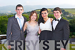 DEBS: Having a great time at the ISK debs at the Ballyroe Heights hotel, Tralee on Thursday l-r: Peter Kennelly, Clodagh O'Leary, Charlotte Kemp and Jonathon Coffey.