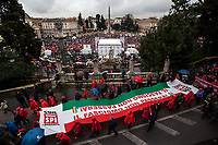 """Rome, 24/02/2018. Today, more than 20,000 people marched peacefully in Central Rome – and in several other cities across Italy – to protest and fight against a revival of neo-fascist sentiment and against racism and xenofobia. The national demonstration called """"Mai Piú Fascismi Mai Piú Razzismi"""" was organised by A.N.P.I. (Associazione Nazionale Partigiani d'Italia - National Association of Italian Partisans) and supported by Center-left political parties, trade unions, organizations, activist and social movements.    <br /> <br /> For more information please click here: http://bit.ly/2Civ61q <br /> <br /> For a video of the event by Radio Radicale please click here: http://bit.ly/2sOImHf"""