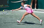Sara Sorribes Tormo (ESP)  defeats Shelby Rogers (USA)  7-5, 6-1 at the Family Circle Cup in Charleston, South Carolina on April 8, 2015.