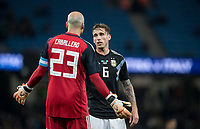 Lucas Biglia (AC Milan) of Argentina during the International Friendly match between Argentina and Italy at the Etihad Stadium, Manchester, England on 23 March 2018. Photo by Andy Rowland.