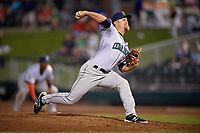 Cedar Rapids Kernels relief pitcher Colton Davis (15) delivers a pitch during a game against the Dayton Dragons on May 10, 2017 at Fifth Third Field in Dayton, Ohio.  Cedar Rapids defeated Dayton 6-5 in ten innings.  (Mike Janes/Four Seam Images)