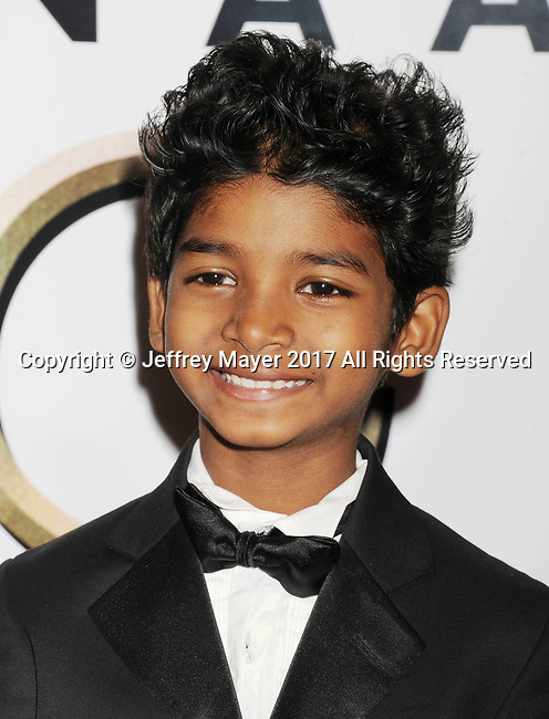 PASADENA, CA - FEBRUARY 11: Actor Sunny Pawar arrives at the 48th NAACP Image Awards at Pasadena Civic Auditorium on February 11, 2017 in Pasadena, California.