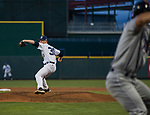 Nevada Wolf Pack pitcher Jake Fenn (30) throws against the Reno Aces at Greater Nevada Field in downtown Reno, Nevada on Tuesday, April 2, 2019