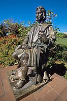 Portugal, Madeira, Kolumbus Denkmal im Parque de Santa Catarina in Funchal