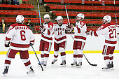Ryan Grimshaw (Harvard - 6), Louis Leblanc (Harvard - 20), Peter Starrett (Harvard - 14), Alex Killorn (Harvard - 19), Michael Biega (Harvard - 27) - The Harvard University Crimson defeated the Dartmouth College Big Green 4-1 (EN) on Monday, January 18, 2010, at Bright Hockey Center in Cambridge, Massachusetts.