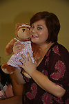 One Life To Live's Kathy Brier made Create A Villa Roma Bear to be auctioned off at the evening's concert on May 22 - We Love Soaps Weekend on  May 21 and May 22 2010 at Villa Roma Resort in Callicoon, New York. (Photo by Sue Coflin/Max Photos)