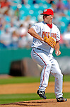 11 March 2006: Joe Horgan, pitcher for the Washington Nationals, winds up during a Spring Training game against the Los Angeles Dodgers. The Nationals defeated the Dodgers 2-1 in 10 innings at Space Coast Stadium, in Viera, Florida...Mandatory Photo Credit: Ed Wolfstein.
