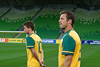 MELBOURNE, AUSTRALIA - MAY 19, 2010: Qantas Socceroos Open Public Training session at AAMI Park on 19 May, 2009 in Melbourne, Australia. Photo Sydney Low www.syd-low.com