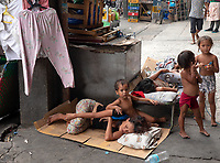 Street Children and family in Manila, Philippines