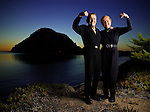Fitness pioneer Jack La Lanne, 92, and his wife Elaine photographed near his home in Morro Bay, California on October 18, 2006