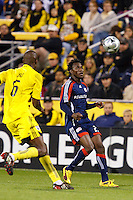 25 OCTOBER 2009:  Andy Iro of the Columbus Crew (7) and Kenny Mansally of the New England Revolution (29) during the New England Revolution at Columbus Crew MLS game in Columbus, Ohio on October 25, 2009.