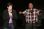 Seth Rudetsky and Tituss Burgess performing in 'Best in Shows' A benefit for the Humane Society of New York at New World Stages on November 9, 2014 in New York City.