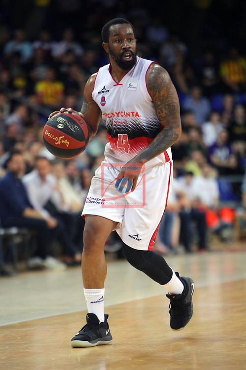 League ACB-ENDESA 201/2019.Game 38.<br /> PlayOff Semifinals.1st match.<br /> FC Barcelona Lassa vs Tecnyconta Zaragoza: 101-59.<br /> Bo McCalebb.