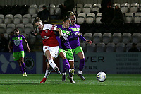 Vivianne Miedema of Arsenal scores the second goal for her team during Arsenal Women vs Bristol City Women, FA Women's Super League Football at Meadow Park on 14th March 2019