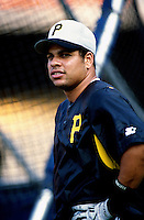 Aramis Ramirez of the Pittsburgh Pirates participates in a Major League Baseball game at Dodger Stadium during the 1998 season in Los Angeles, California. (Larry Goren/Four Seam Images)