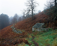The landscape around the cottage photographed on a desolate day in winter