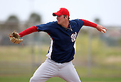 March 22, 2010:  Pitcher Chad Jenkins of the Washington Nationals organization during Spring Training at the Carl Barger Training Complex in Melbourne, FL.  Photo By Mike Janes/Four Seam Images