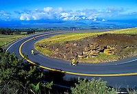 Biking down Haleakala Crater, Maui