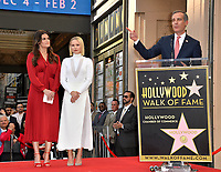 LOS ANGELES, CA. November 19, 2019: Idina Menzel, Kristen Bell & Eric Garcetti at the Hollywood Walk of Fame Star Ceremony honoring Kristen Bell & Idina Menzel.<br /> Pictures: Paul Smith/Featureflash