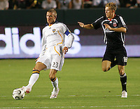 Los Angeles Galaxy midfielder (23) David Beckham. LA Galaxy defeated DC United 2-0 in the Semi Final of the SuperLiga at the Home Depot Center in Carson, California, Wednesday, August 15, 2007.