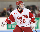 Matt Ronan (BU - 20) - The Boston University Terriers defeated the visiting Northeastern University Huskies 5-0 on senior night Saturday, March 9, 2013, at Agganis Arena in Boston, Massachusetts.