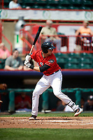 Erie SeaWolves catcher Grayson Greiner (21) at bat during a game against the Reading Fightin Phils on May 18, 2017 at UPMC Park in Erie, Pennsylvania.  Reading defeated Erie 8-3.  (Mike Janes/Four Seam Images)