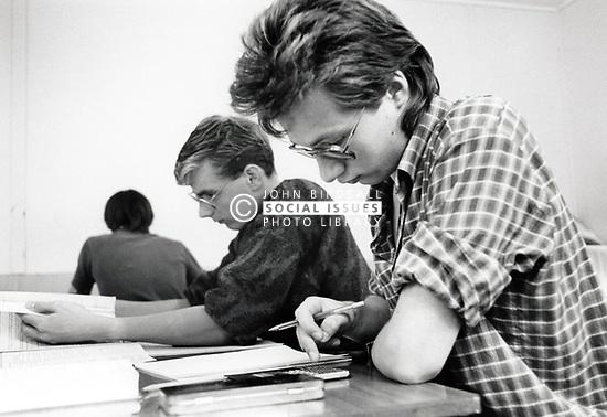 Secondary school, Derby, UK 1987