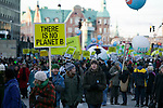 The Global Day of Action March in Copenhagen on Dec. 12. (Images free for Editorial Web usage for Fresh Air Participants during COP 15. Credit: Robert vanWaarden)