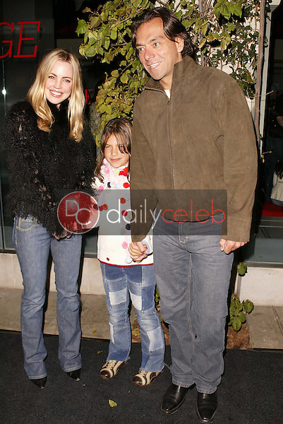 Melissa George, husband Claudio and step daughter Martina